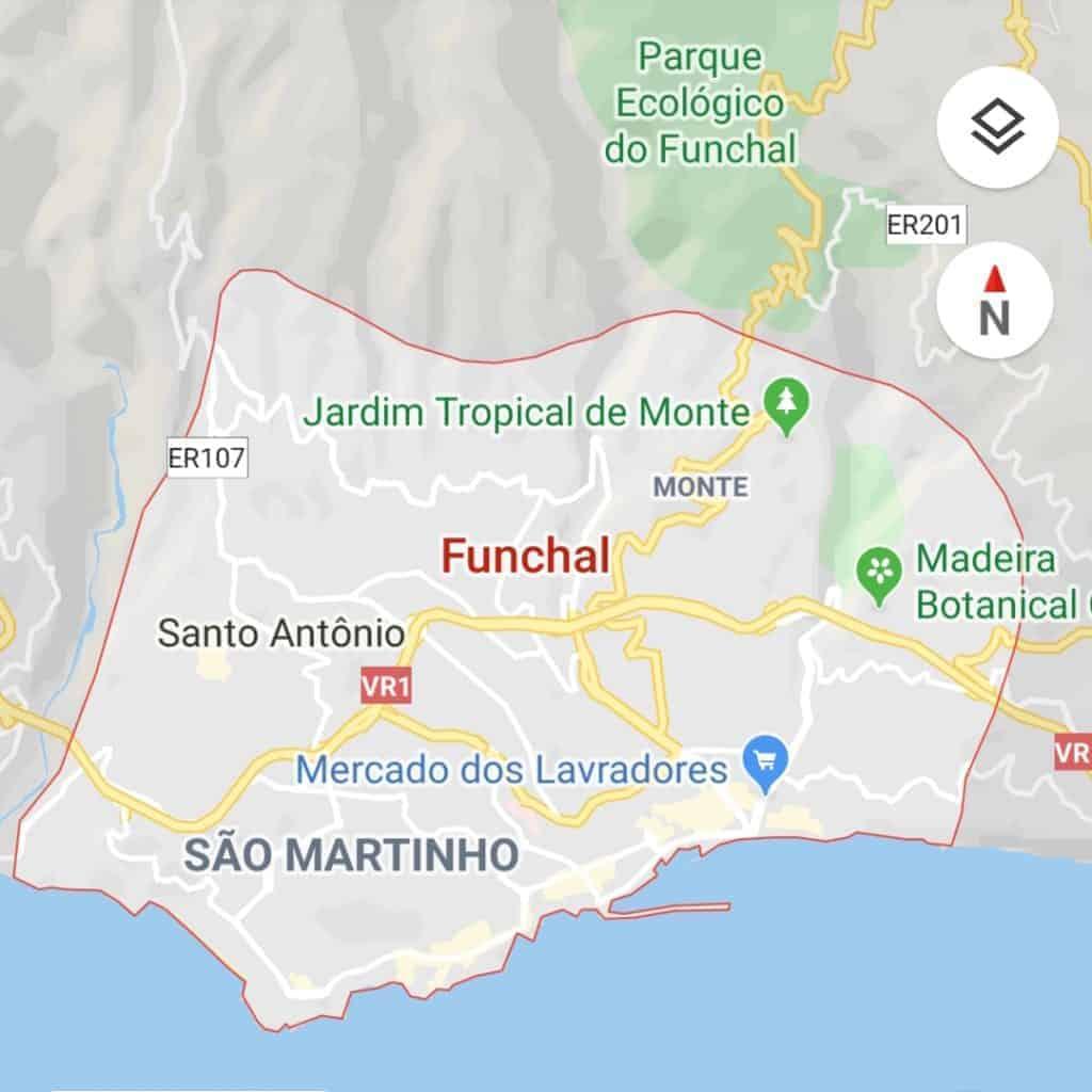 Pick-up & drop-off areas. Funchal. By Google Maps. Pico Transfers. Pico Do Arieiro. Pico Ruivo.