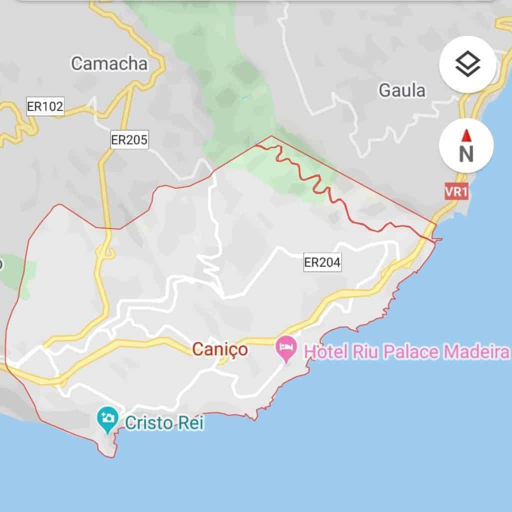 Pick-up & drop-off areas. Caniço. By Google Maps. Pico Transfers. Pico Do Arieiro. Pico Ruivo.